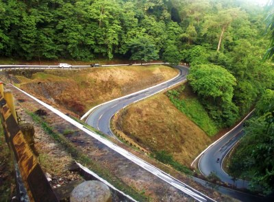 a portion of the Eme Road in Quezon National Park