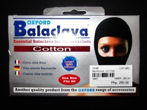 Oxford cotton balaclava at 20% off.