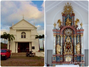 Sto Nino Church on top of a hill.. it offers a bird's eye view of the Verde Island Passages.
