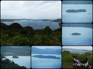 On a viewing deck, you can the little islands between Cagraray and Batan Island.