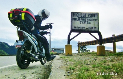 Finally, I reached the Philippines Pali or the Highest Point in the Phil Highway System. Seven thousand four hundred feet above sea level!