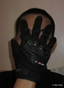 an RS Taichi leather gloves in 2012.