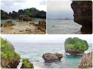 They say that on a really low tide, you can get near the nearby islets.