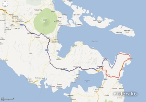 The island is between Bacon and Prieto Diaz at KM  607. Sorsogon City is KM 580