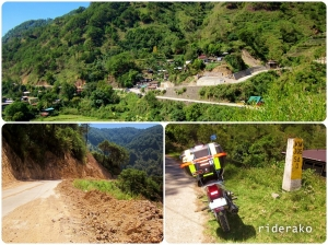the Bontoc-Sagada junction in Sabang viewed shortly after going up Sagada access road