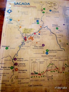 a tourist map of Sagada