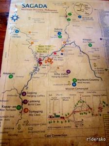 a tourist map of Sagada