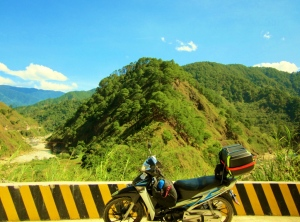 on my way to Bontoc coming from Sagada