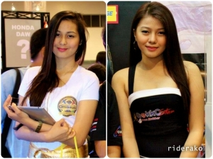 As appealing as the bikes are the models. Pinay beauties at its best!