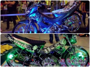 The modified bikes can be simple yet dazzling.