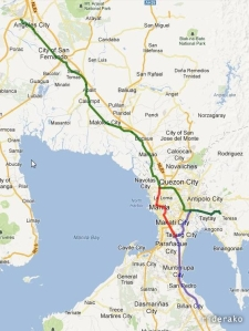 300 kms of wet, slippery road..