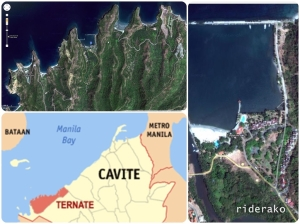 A satellite view of Caylabne and the coves/resorts near it.