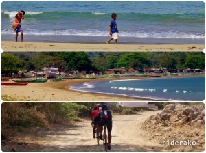 a small fishing village of Tablon (?) Beach