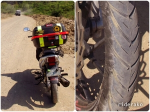 Tire check! works well on the beach after all..