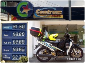 First time for me to see a Centrum Gas station. I wonder if theirs is at 9 pesos per Liter.