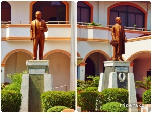 The best of friends stand proud in front of the town hall. The National Hero Jose Rizal and Badoc's very own Juan Luna.