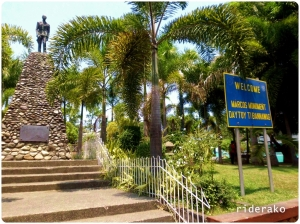A monument of the former president Ferdinand Marcos