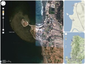 The island is less than a kilometer away from the main highway.