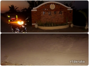 "Bottom pic is the ""ripples"" of sand just near the road showing it is underwater just hours ago."
