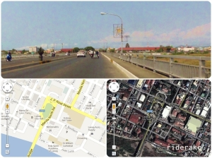 The Laoag City skyline and map