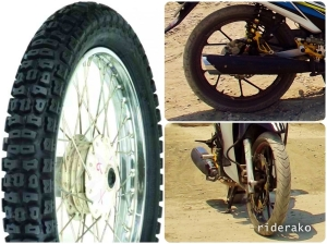 knobby tires versus what I have