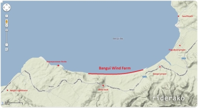 The location-slash-tourism map of Bangui