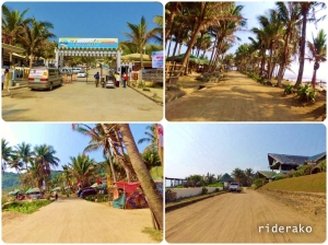 I passed by the resorts, The beach is only a few meters from the Maira-ira Beach Road.