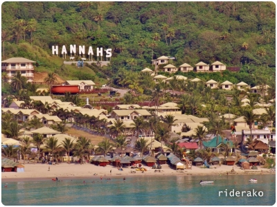 Hannah's is the most famous beach resort here. I have been seeing billboards as early as La Union.