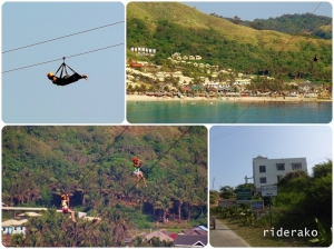 The Hannah's Zipline is 1.150 km long over the Blue Lagoon and into the Beach.