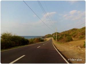 The rocky coastal road of Burgos