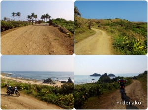 As I go farther down Maira-ira Beach Road, the cemented road turned to beach sand..