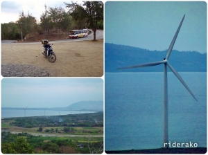 At the Bangui Wind Farm view deck. Man, they are huge!!
