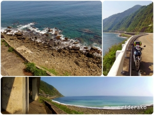 the bridge offers a refreshing view of Pasaleng Bay and it's rocky shoreline.