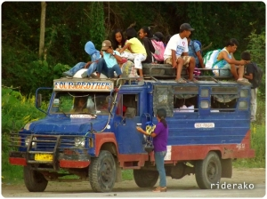 A typical sight in the remote regions in the Philippines.
