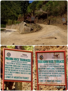 cemented road to Bontoc, dirt road to Sadanga