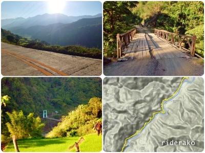 Eye-catching hanging bridge to Brgy Basao.