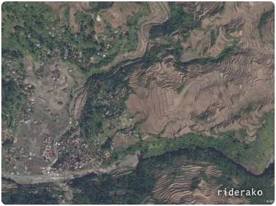 The satellite view shows  a lot of terraces waiting to be scaled and photographed.
