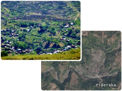 A portion of the village hidden behind a ridge.
