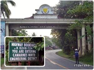 Entering Bicol