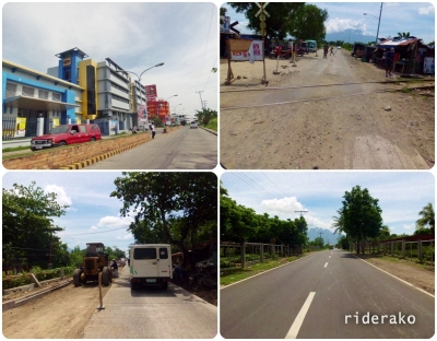The roads of Naga City and Pili.