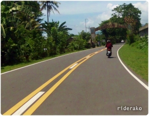 Entering Sagnay with Newbie_slow on his 110cc Honda Beat leading the way.