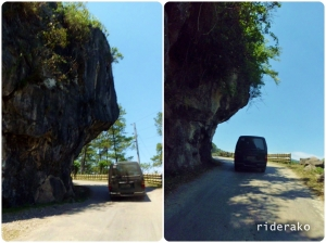 The road carved on the mountain going up to Sagada.
