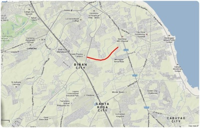 When completed, it will cut the cut the 6-km travel from Sta Rosa to Mamplasan Exit to just 3 kms with possibly much, much lighter traffic.