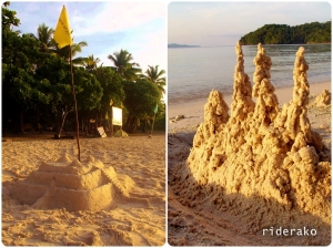 A beach resort is never a  beach resort without sand castles.