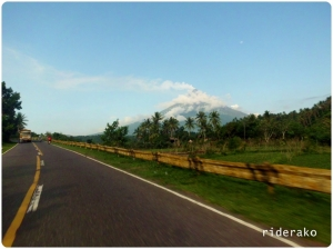 The Sabloyon road connects Ligao City and Tabaco City. In between is the Majestic Mayon Volcano